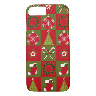 Coque iPhone 8/7 Cas de l'iPhone 7 de motif d'édredon de Noël