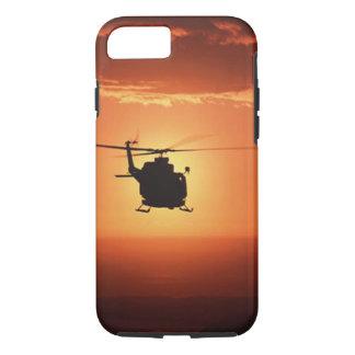Coque iPhone 8/7 Cas de l'iPhone 7 de silhouette d'hélicoptère