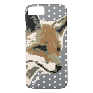 Coque iPhone 8/7 Cas de l'iPhone 7 de visage de Fox de point de