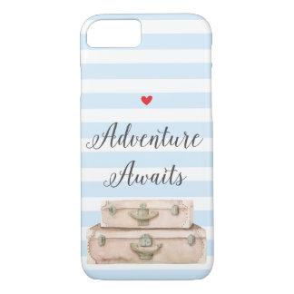 Coque iPhone 8/7 Cas de l'iPhone 8 de valises de voyage -