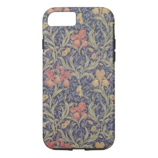 Coque iPhone 8/7 Cas de motif d'iris de William Morris pour le cas