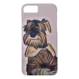 Coque iPhone 8/7 Cas de Smartphone de chien de Schnauzer