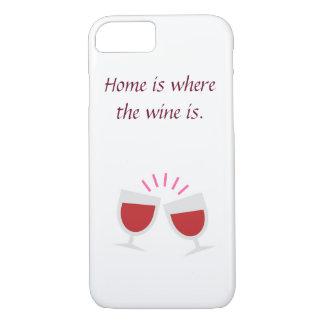 Coque iPhone 8/7 Cas de téléphone d'amateurs de vin