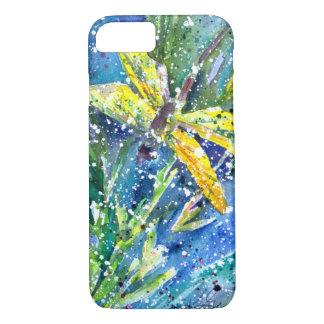 Coque iPhone 8/7 Cas de téléphone d'aquarelle d'été de libellule