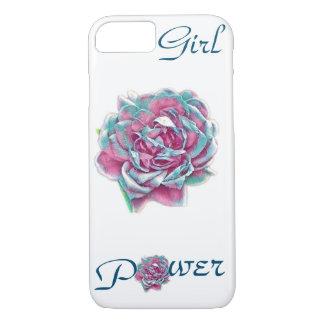 Coque iPhone 8/7 Cas de téléphone de rose de puissance de fille