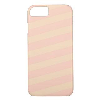 Coque iPhone 8/7 Cas de téléphone de rose en pastel/jaune par