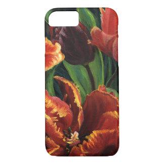 """Coque iPhone 8/7 Cas de téléphone """"de triptyque de tulipes de"""
