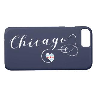 Coque iPhone 8/7 Cas de téléphone portable de coeur de Chicago,