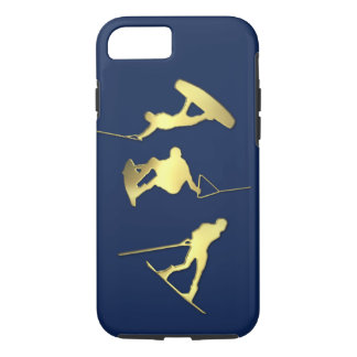 Coque iPhone 8/7 Cas des Wakeboarders iPhone/iPad d'or