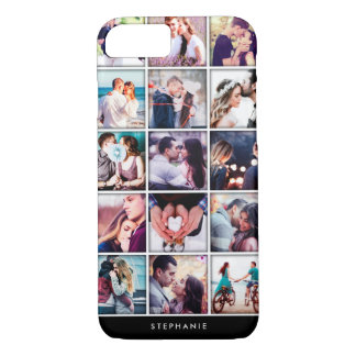 Coque iPhone 8/7 Cas doux de l'iPhone 7 de collage de photo de