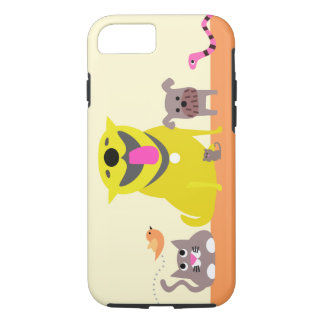 Coque iPhone 8/7 Cas du téléphone de la garde d'enfants d'animal