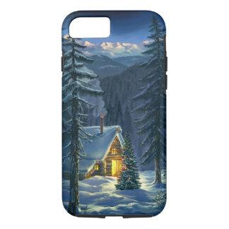 Coque iPhone 8/7 Cas dur de l'iPhone 7 de paysage de neige de Noël