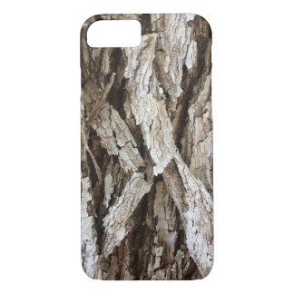 Coque iPhone 8/7 Cas en bois de l'iPhone 7 de Camo d'écorce d'arbre