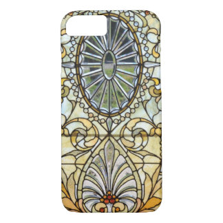 Coque iPhone 8/7 Cas en verre vintage de l'iPhone 7 d'art déco