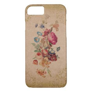 Coque iPhone 8/7 Cas floral de téléphone de rose assez victorien de
