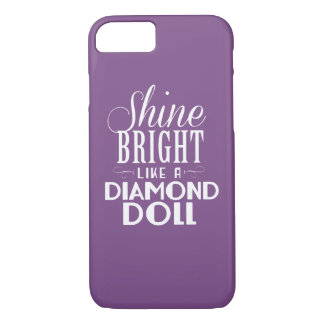 Coque iPhone 8/7 Cas lumineux de téléphone de poupées d'éclat