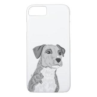 Coque iPhone 8/7 Cas mignon de téléphone de chien, illustration de