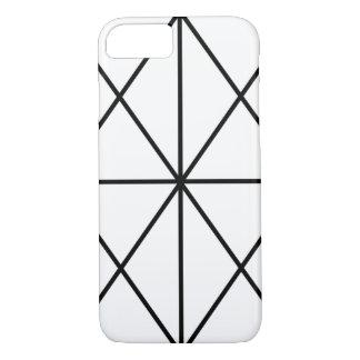 Coque iPhone 8/7 Cas/noir et blanc Simple-Rayés