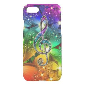 Coque iPhone 8/7 Cas psychédélique de l'iPhone 7 de clef de musique