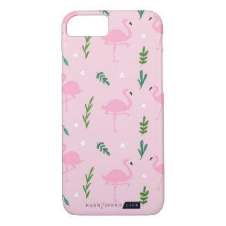 Coque iPhone 8/7 Cas rose de téléphone de flamants
