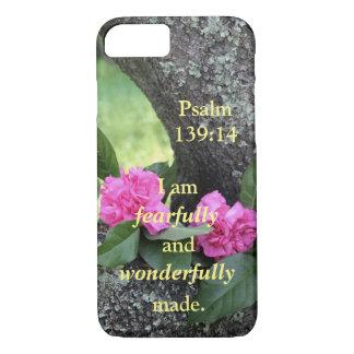 Coque iPhone 8/7 Cas rose de téléphone de psaume d'oeillets