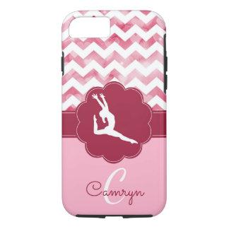 Coque iPhone 8/7 Cas rose de téléphone portable de gymnastique