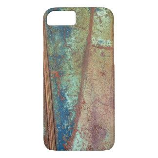 Coque iPhone 8/7 Cas rouillé de téléphone en métal