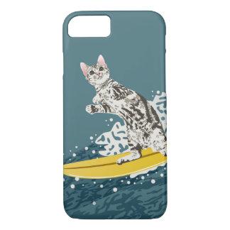 Coque iPhone 8/7 Cas surfant de téléphone de chat