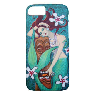 Coque iPhone 8/7 Cas tropical de l'iPhone 7 de sirène de Tiki