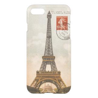 Coque iPhone 8/7 Cas vintage de l'iPhone 7 de Tour Eiffel