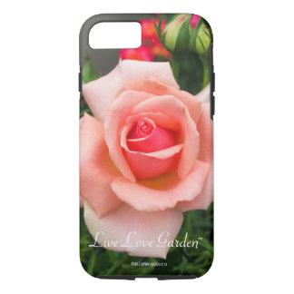 Coque iPhone 8/7 Cas vivant de téléphone de rose de jardin d'amour