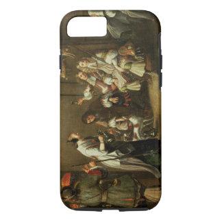 Coque iPhone 8/7 Cavaliers et compagnons faisant la bringue dans