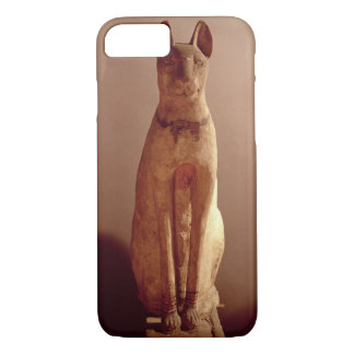 Coque iPhone 8/7 Cercueil d'un chat protégé par la déesse Bastet (p