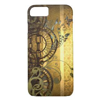 Coque iPhone 8/7 Chaînes de Steampunk et floral