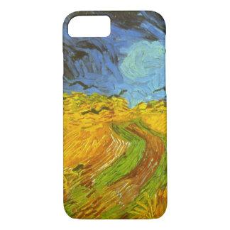 Coque iPhone 8/7 Champ de blé de Van Gogh avec des corneilles,