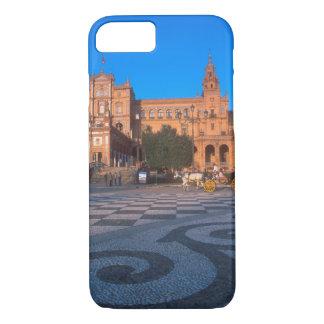 Coque iPhone 8/7 Chariot hippomobile dans la plaza de Espana dedans