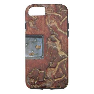 Coque iPhone 8/7 Chasse à lion, plaque d'un cercueil bizantin,
