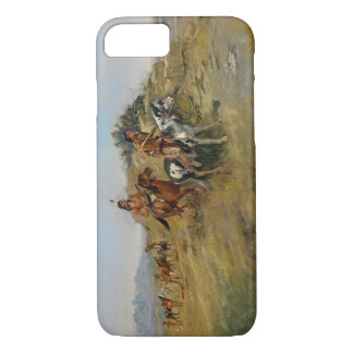 Coque iPhone 8/7 Chasse de Buffalo, 1891 (huile sur la toile)