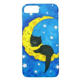 Coque iPhone 8/7 Chat noir de rêves doux par Bihrle