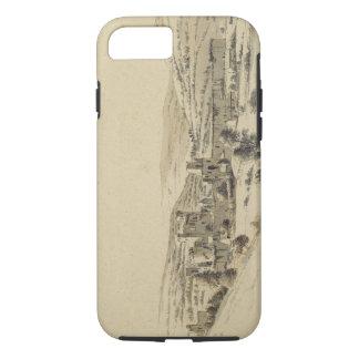 Coque iPhone 8/7 Château de Caerphilly (stylo, encre et lavage sur