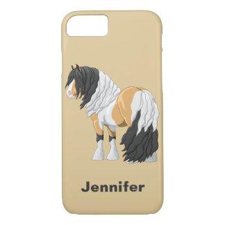 Coque iPhone 8/7 Cheval de trait gitan de Pinto Vanner de belle