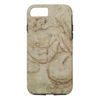 Coque iPhone 8/7 Cheval et cavalier (à l'encre sur le papier)