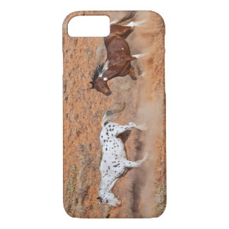 Coque iPhone 8/7 Chevaux errant la TA de Big Horn de Shell Wyoming.