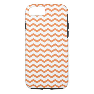 Coque iPhone 8/7 Chevron orange à la mode Pattern.ai
