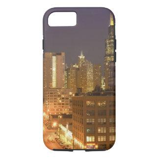 Coque iPhone 8/7 Chicago, l'Illinois, horizon de la boucle