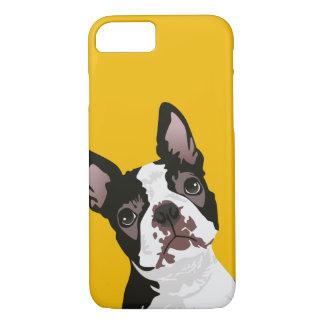 Coque iPhone 8/7 Chien mignon de Boston Terrier pour le