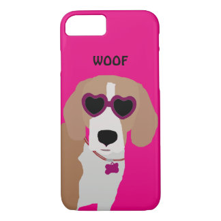 Coque iPhone 8/7 Chien tricolore moderne de beagle