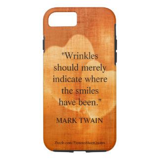 Coque iPhone 8/7 Citation d'anniversaire de Mark Twain avec des