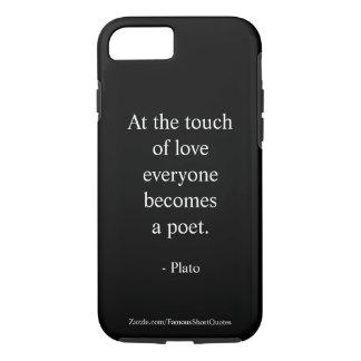 Coque iPhone 8/7 Citation de Platon ; Le contact de l'amour