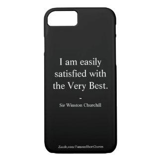 Coque iPhone 8/7 Citation de Winston Churchill ; le meilleur